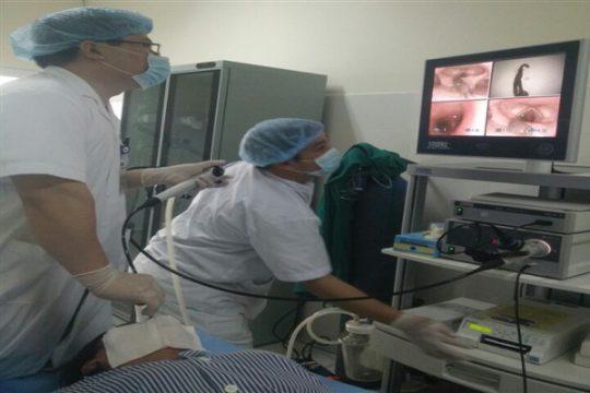 Bệnh viện đa khoa tỉnh: gắp thành công con vắt trong thanh quản bệnh nhân