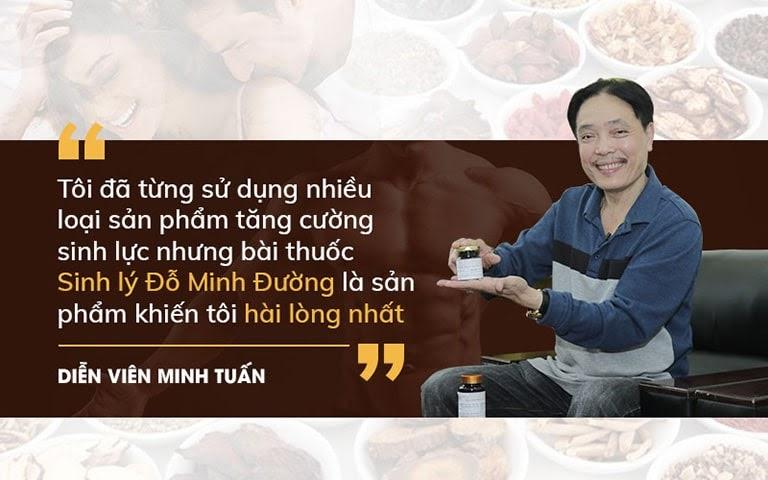 Diễn viên Minh Tuấn đánh giá cao hiệu quả bài thuốc của Đỗ Minh Đường
