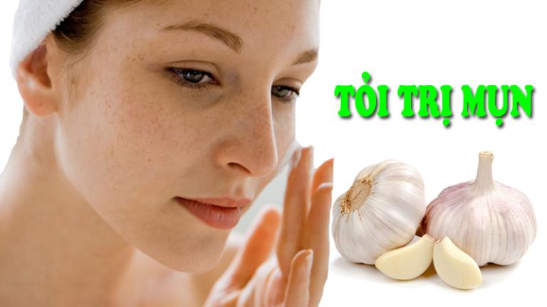 Tinh chất có bên trong tỏi có tác dụng kháng viêm, điều trị mụn rất hiệu quả