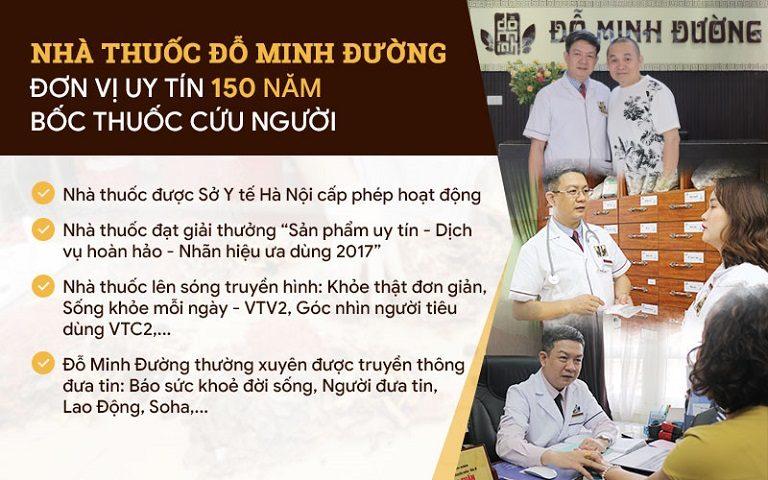 Nhà thuốc gia truyền Đỗ Minh Đường là địa chỉ uy tín và nổi tiếng trong chữa các bệnh nam khoa