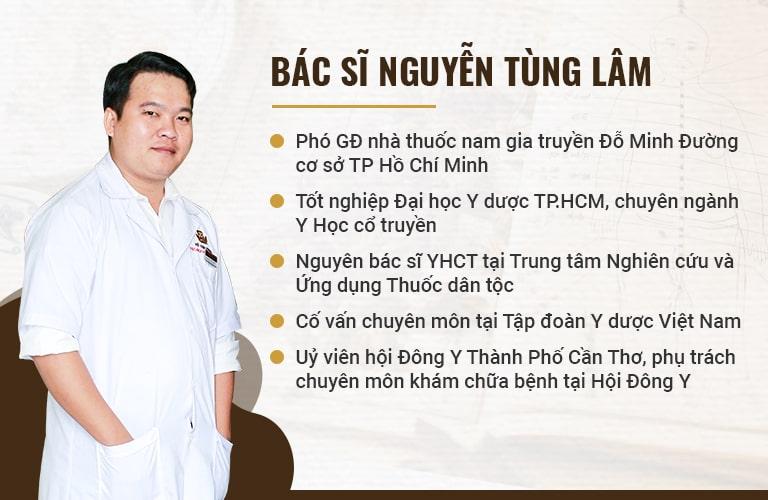 Lương y Nguyễn Tùng Lâm với nhiều năm kinh nghiệm trong khám và điều trị nam khoa