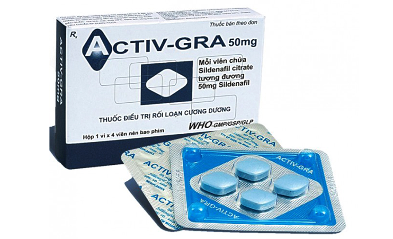 Những thông tin cần biết về thuốc Activ GRA điều trị rối loạn cương dương ở nam giới