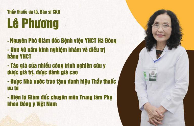Bác sĩ Phương có hơn 40 năm kinh nghiệm trong điều trị viêm phụ khoa bằng YHCT
