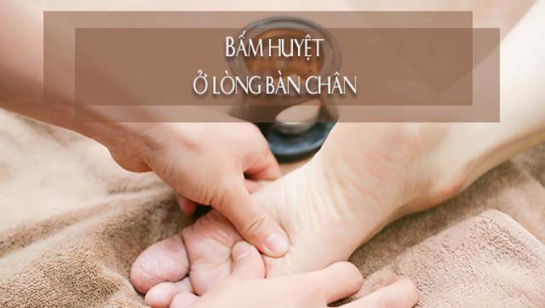Huyệt ở lòng bàn chân có liên quan trực tiếp đến thận và hạ bộ nam giới