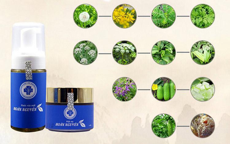 Bộ sản phẩm Hoàn Nguyên là sự kết hợp của nhiều loại thảo dược tự nhiên