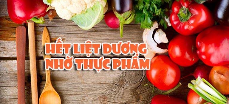 Chữa liệt dương bằng các loại thực phẩm quen thuộc là phương pháp an toàn và hiệu quả
