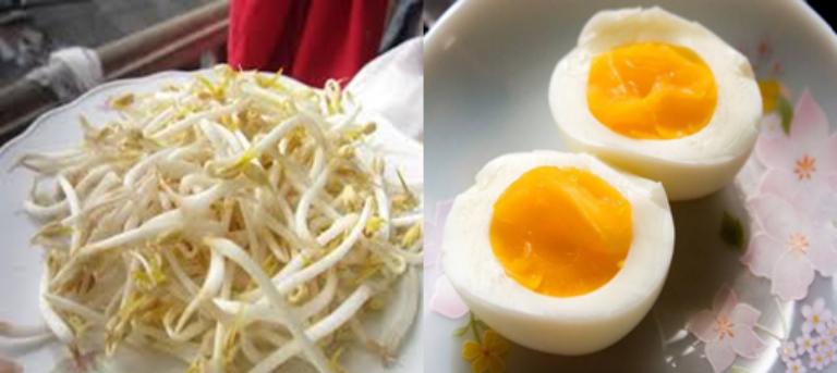 Sử dụng giá đỗ với trứng gà giúp nam giới tăng ham muốn và kéo dài thời gian xuất tinh