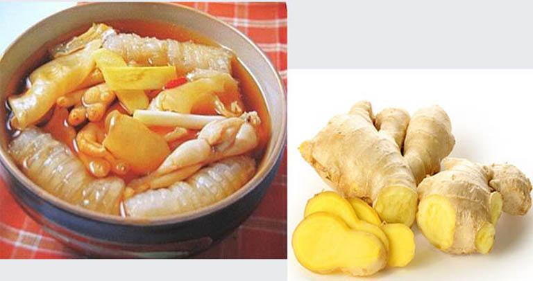 Bong bóng cá nấu gừng là món ăn có tác dụng điều hòa chức năng sinh lý nam giới hiệu quả