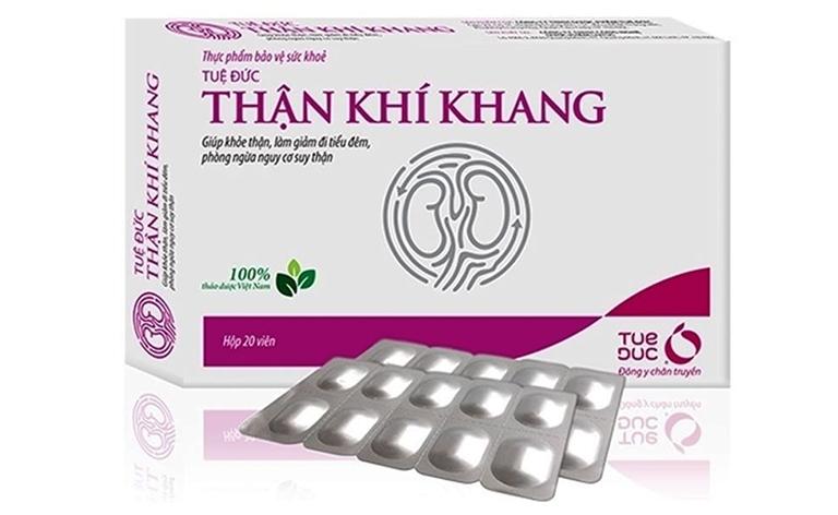 Thực phẩm bảo vệ sức khỏe Thận Khí Khang giúp cải thiện chức năng thận, hỗ trợ điều trị chứng đi tiểu đêm, phòng ngừa suy thận