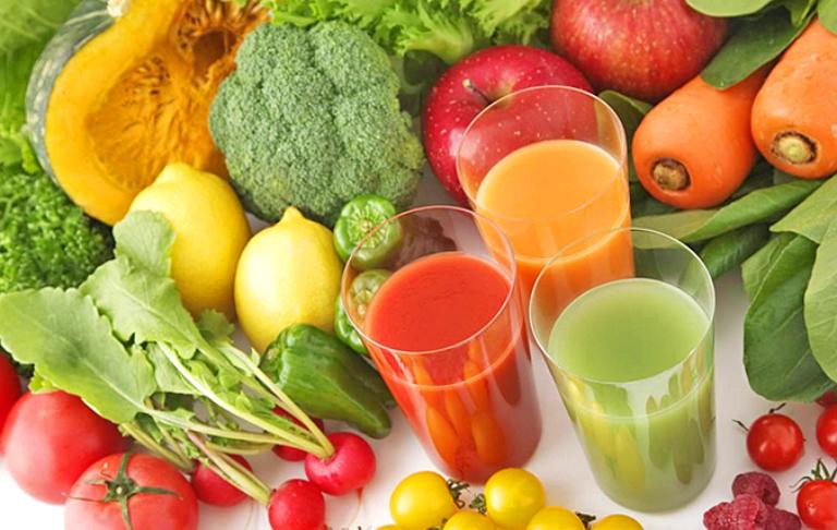 Nước ép rau củ có tác dụng tăng cường sức khoẻ và cải thiện chức năng thận