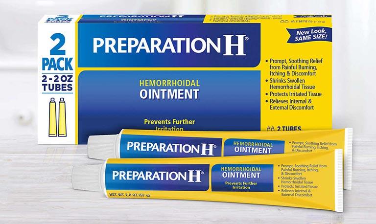 Thuốc Preparation H giúp làm co búi trĩ, xoa dịu tình trạng đau rát hậu môn