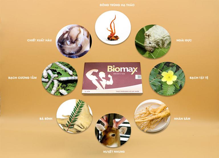 Viên sinh lý nam Biomax được chiết từ các thảo dược quý có sẵn trong tự nhiên