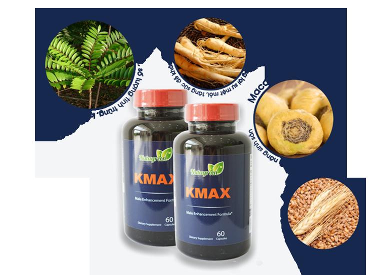 Viên uống Kmax được chiết xuất từ các thảo dược qúy có sẵn trong tự nhiên và một số thành phần phụ liệu khác