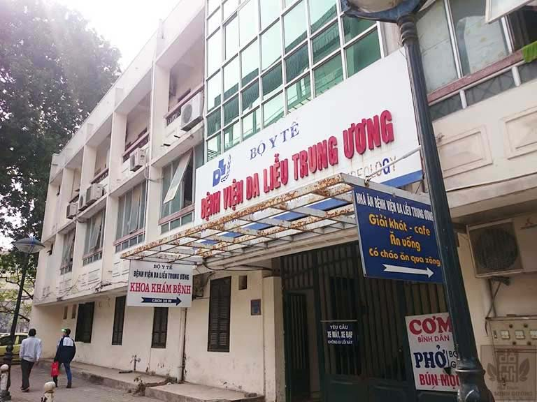 Bệnh viện Da liễu Trung ương là một trong những địa chỉ chữa mề đay nổi tiếng tại Hà Nội