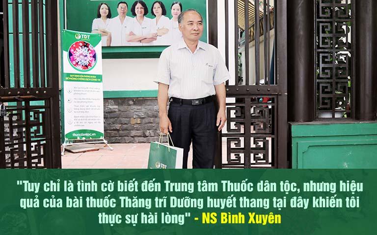 Nghệ sĩ Bình Xuyên chữa khỏi bệnh trĩ tại Thuốc dân tộc