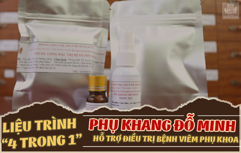 Liệu trình 4 trong 1 chữa viêm phụ khoa của Đỗ Minh Đường