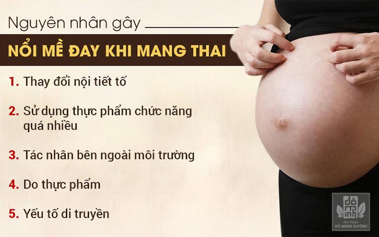 Nguyên nhân nổi mề đay khi mang thai