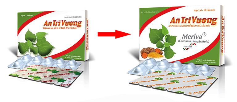 Bao bì thực phẩm chức năng An Trĩ Vương đã thay đổi bao bì mới, người bệnh cần lưu ý khi chọn mua sản phẩm