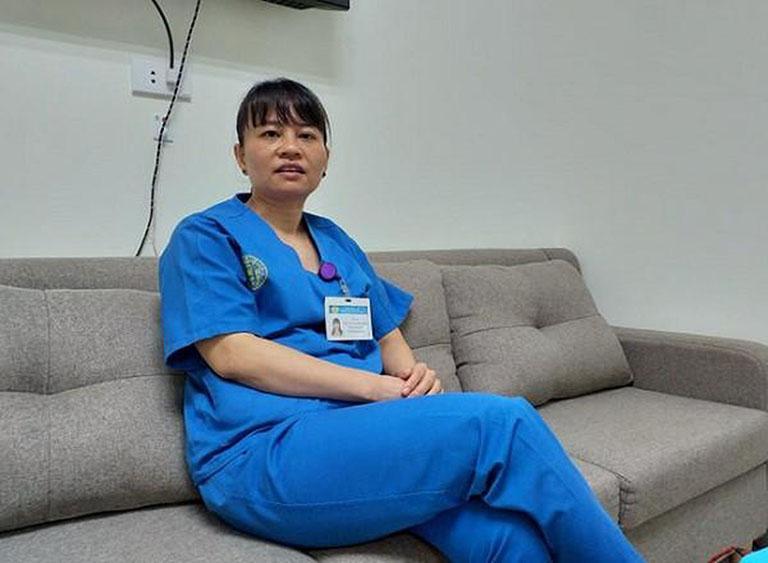 Bác sĩ Nguyễn Thị Ngọc Bích đang công tác tại bệnh viện Thanh Nhàn