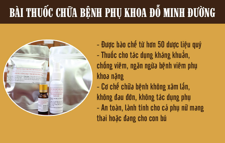Bài thuốc chữa bệnh phụ khoa của nhà thuốc Nam Đỗ Minh Đường