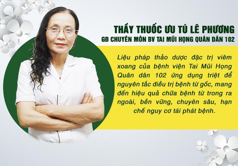 Bác sĩ Lê Phương nói về liệu pháp thảo dược đặc trị viêm xoang của bệnh viện