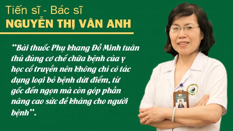 BS Nguyễn Thị Vân Anh nhận định về bài thuốc Phụ Khang Đỗ Minh