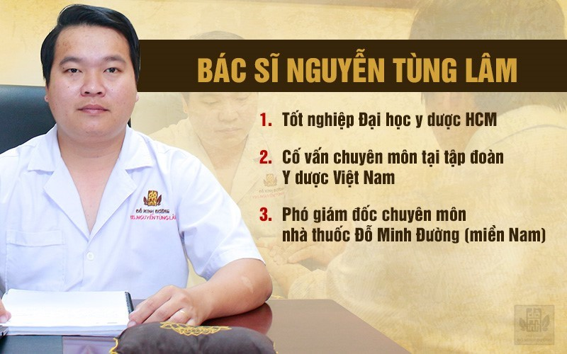Thông tin bác sĩ Tùng Lâm chuyên gia điều trị nổi mề đay Đỗ Minh Đường