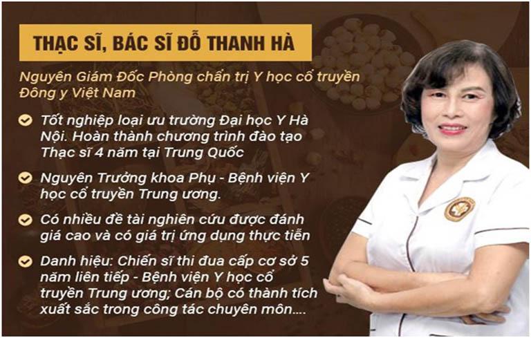 Bác sĩ Đỗ Thanh Hà là người có nhiều năm kinh nghiệm, được đông đảo bệnh nhân tin tưởng lựa chọn