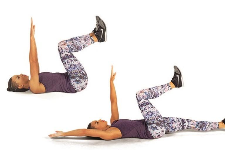 Bài tập Dead Bug sẽ giúp người bệnh giảm được tình trạng đau thắt cột sống thắt lưng