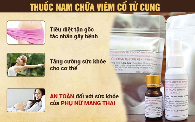Bài thuốc nam chữa viêm cổ tử cung của nhà thuốc Đỗ Minh Đường