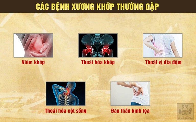 Các loại bệnh xương khớp thường gặp