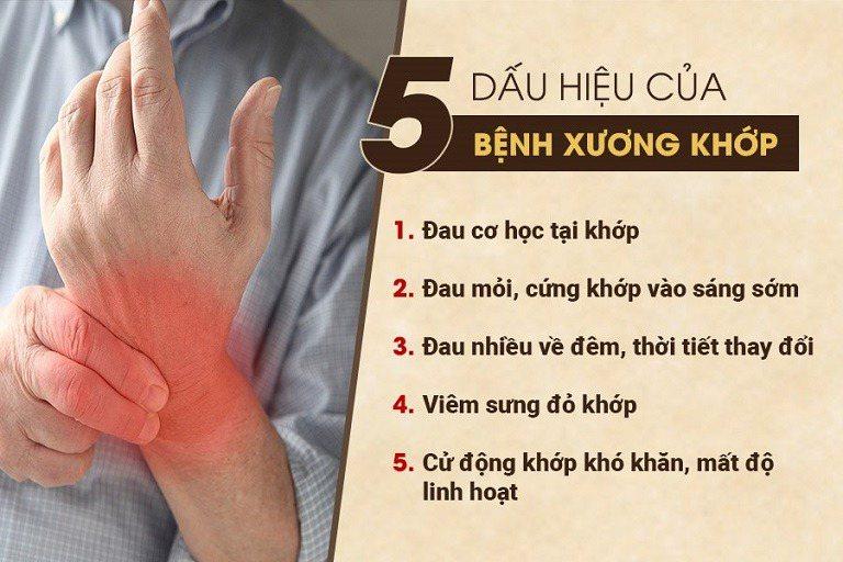 triệu chứng của bệnh xương khớp