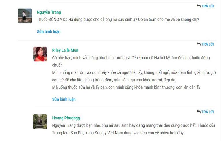 Chị em gợi ý cho nhau sử dụng bài thuốc của bác sĩ Thanh Hà vì độ an toàn, lành tính