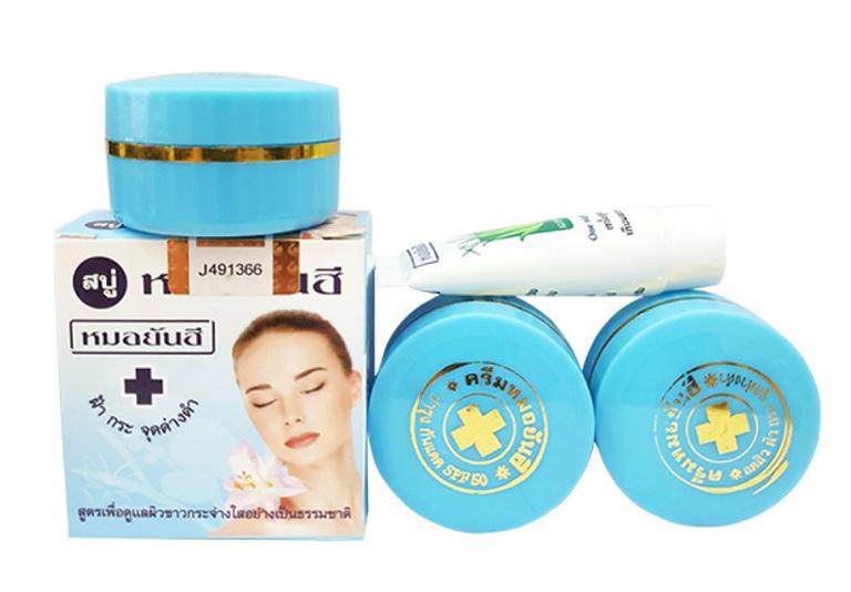 Bộ sản phẩm kem trị mụn và làm trắng da Thái Lan Yanhee