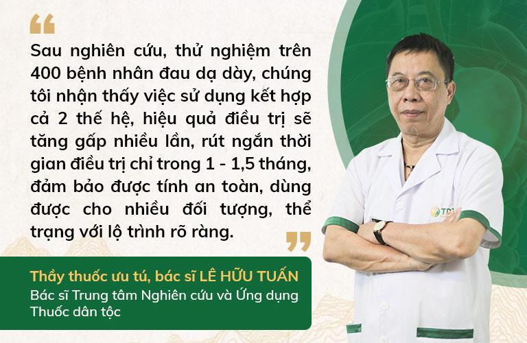 Thầy thuốc ưu tú Lê Hữu Tuấn đánh giá cao về hiệu quả Sơ can Bình vị tán thế hệ 2