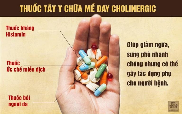 Sử dụng thuốc Tây chữa mề đay cholinergic cần tuân thủ chỉ định của bác sĩ chuyên khoa