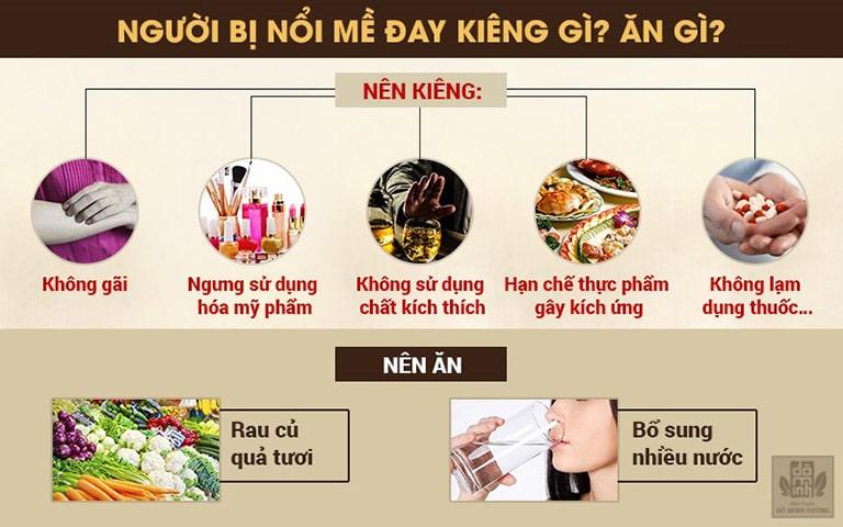 Chế độ ăn uống cho người bị nổi mề đay