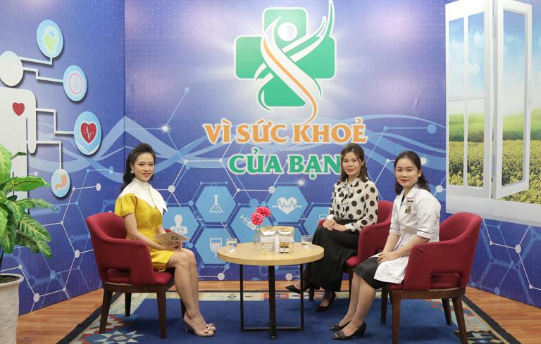 Chị Phương Mai chia sẻ về hiệu quả bài thuốc Phụ Khang Đỗ Minh trên sóng truyền hình VTV2