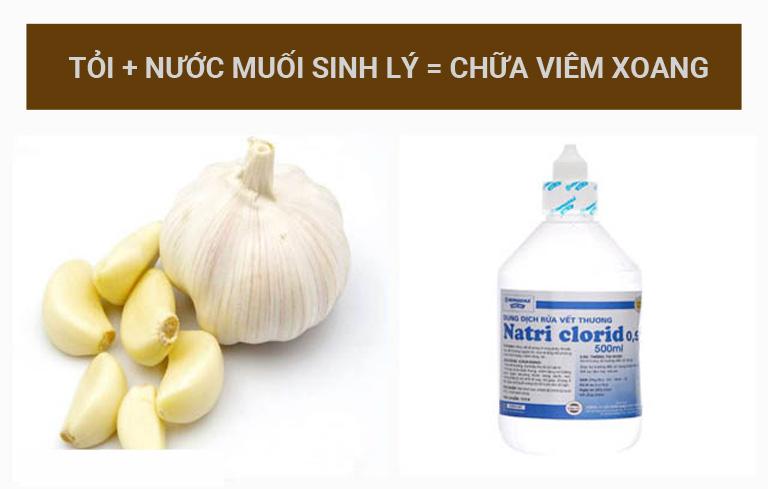 Kết hợp muối và tỏi cho hiệu quả điều trị viêm xoang rất tốt