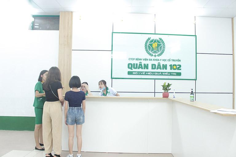 Chữa viêm xoang tại bệnh viện Tai Mũi Họng Quân dân 102