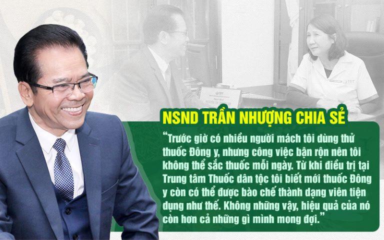 NSND Trần Nhượng chia sẻ về cảm nhận sau khi điều trị bệnh dạ dày tại Thuốc dân tộc