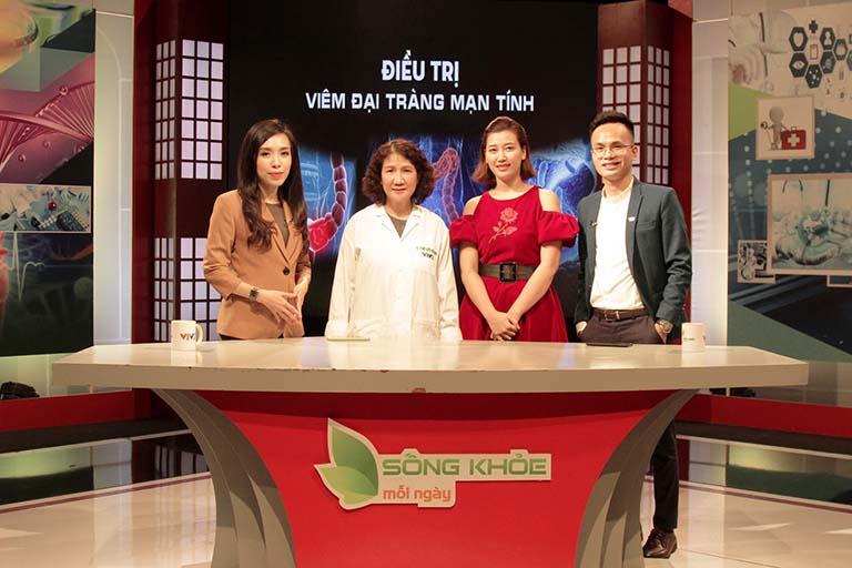 Thạc sĩ, bác sĩ Tuyết Lan trong chương trình VTV2 Sống khỏe mỗi ngày giới thiệu bài thuốc chữa viêm đại tràng bằng Đông y
