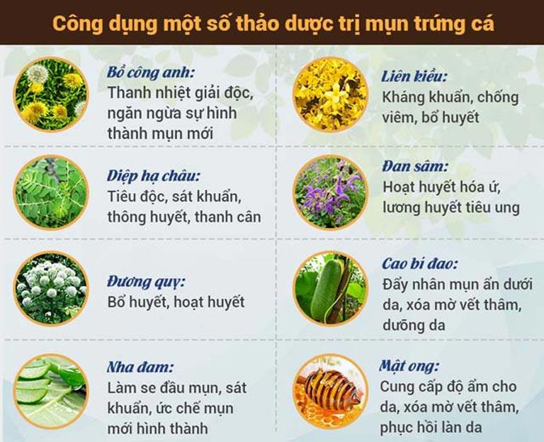 Hoàn Nguyên là sự kết hợp của nhiều loại thảo dược quý có tác dụng trị mụn