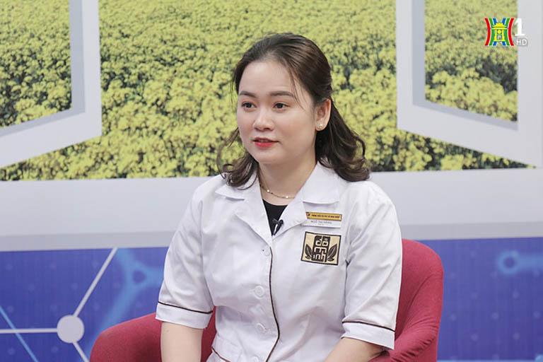 bác sĩ Ngô Thị Hằng công tác tại nhà thuốc Đỗ Minh Đường tham gia tư vấn bệnh phụ khoa trên Đài H1