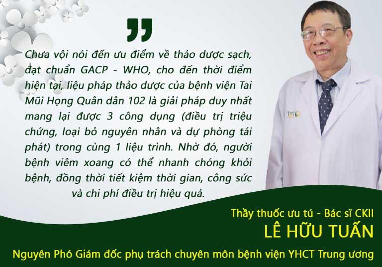 Nhận xét của bác sĩ Lê Hữu Tuấn