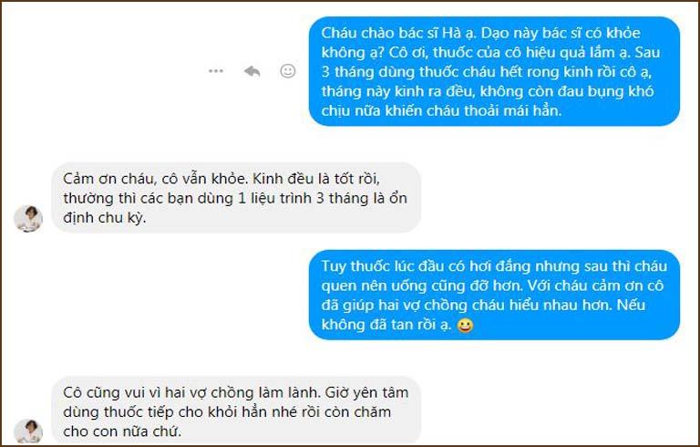 Những lời cảm ơn chân thành của Linh tới bác sĩ Hà