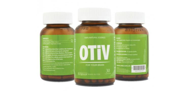 OTiV được bào chế ở dạng viên nang, có thành phần từ các loại thảo dược tự nhiên, giúp tăng cường trí nhớ.
