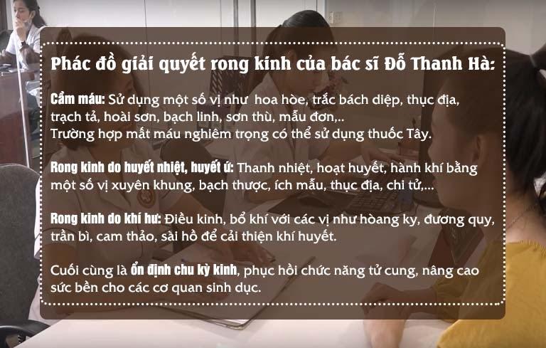 Phác đồ giải quyết rong kinh của Thạc sĩ, bác sĩ Đỗ Thanh Hà