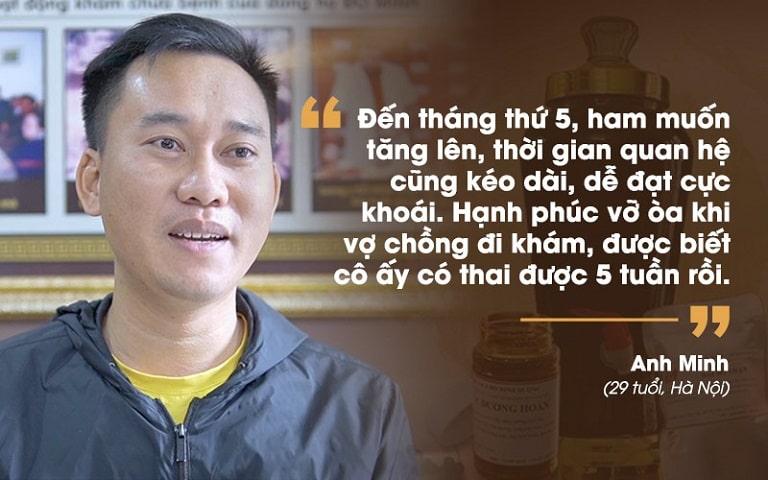 Anh Minh chia sẻ về hiệu quả dùng thuốc tại Đỗ Minh Đường