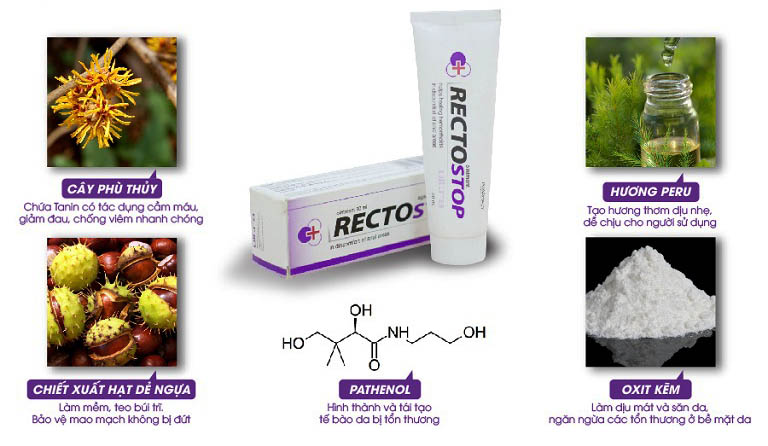 Thuốc bôi trĩ Rectostop được bào chế từ các thảo dược lành tính, an toàn cho người bệnh khi sử dụng